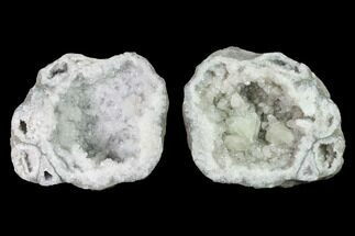 "6.4"" Keokuk Quartz Geode with Calcite & Pyrite Crystals - Missouri For Sale, #144761"