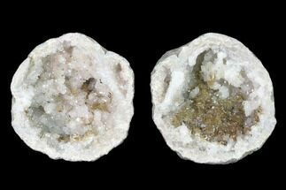 "Buy 2.1"" Keokuk Quartz Geode with Calcite & Filiform Pyrite - Missouri - #144691"