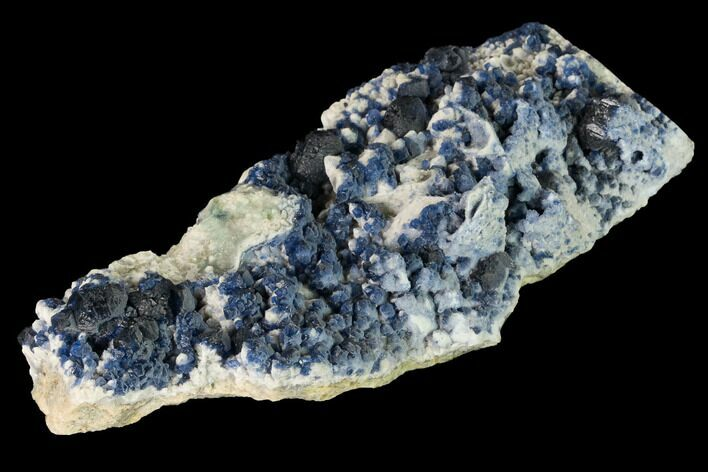 "5.8"" Dark Blue Fluorite on Quartz - Inner Mongolia"