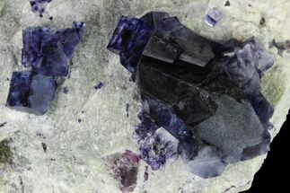Fluorite & Quartz - Fossils For Sale - #146946