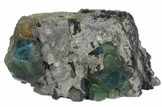 "Buy 4"" Blue-Green Cuboctohedral Fluorite Crystals - China - #147082"