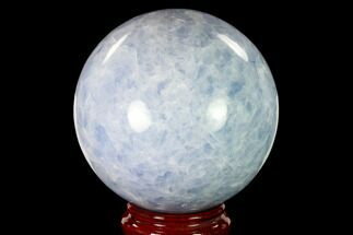 "5.55"" Polished Blue Calcite Sphere - Madagascar For Sale, #149357"