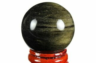 "Buy 1.6"" Polished, Golden Sheen Obsidian Spheres - #150397"