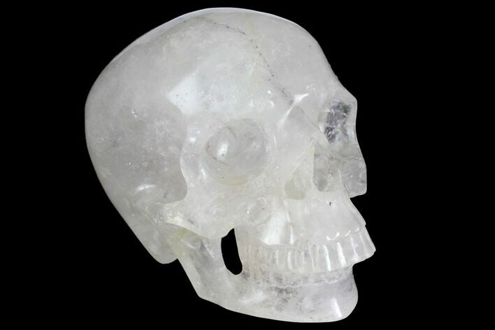 "5"" Realistic, Polished Quartz Crystal Skull"