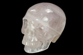 "Buy 3"" Realistic, Polished Brazilian Rose Quartz Crystal Skull - #151075"