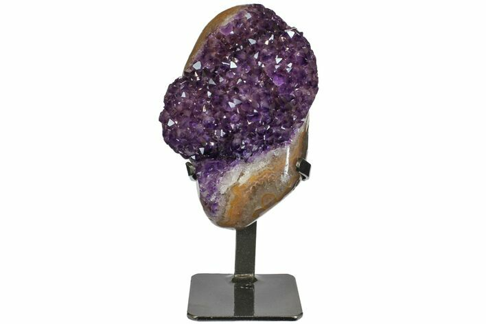 "7.8"" Amethyst Geode With Metal Stand - Uruguay"