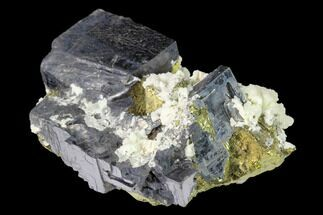 Chalcopyrite, Calcite & Galena - Fossils For Sale - #149703
