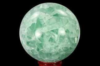 "2.8"" Polished Green Fluorite Sphere - Mexico For Sale, #153353"