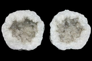 "Buy 7.9"" Keokuk Quartz Geode with Filiform Pyrite Crystals - Missouri - #144775"