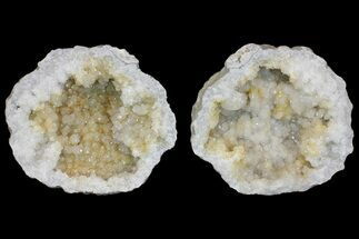 "9.3"" Keokuk Quartz Geode with Calcite & Filiform Pyrite - Missouri For Sale, #144776"