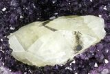 "13.7"" Amethyst Geode With Calcite Crystal - Top Quality - #153600-2"