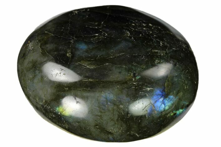 "2.25"" Flashy, Polished Labradorite Palm Stone - Madagascar"
