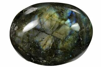 "Buy 2.85"" Flashy, Polished Labradorite Palm Stone - Madagascar - #155683"