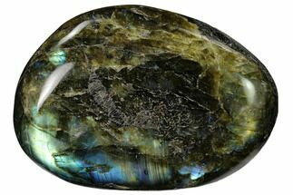 "Buy 3"" Flashy, Polished Labradorite Palm Stone - Madagascar - #155695"