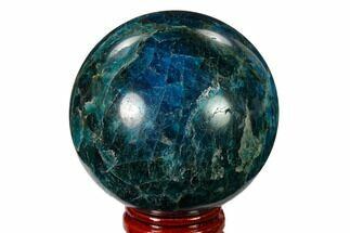 "2.3"" Bright Blue Apatite Sphere - Madagascar For Sale, #154262"