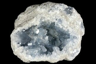 "6.9"" Sky Blue Celestine (Celestite) Geode - Madagascar For Sale, #156500"