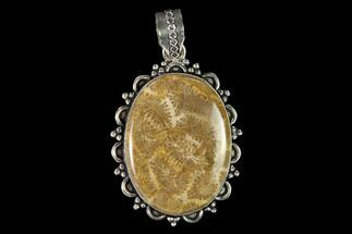 Buy 20 Million Year Old Fossil Coral Pendant - Indonesia - #145075