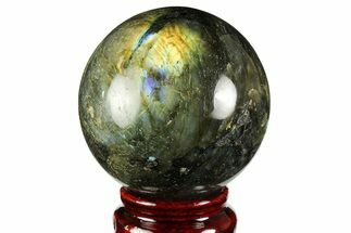 "Buy 2.45"" Flashy, Polished Labradorite Sphere - Great Color Play - #158005"