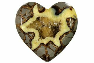 "Buy 5.3"" 3D Utah Septarian Heart - Beautiful Crystals - #160183"