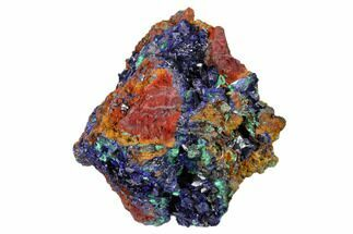 "Buy 3.2"" Sparkling Azurite Crystals with Malachite - Laos - #161593"