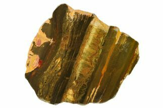 "5.6"" Polished ""Packsaddle"" Tiger Eye Slab - Western Australia For Sale, #161960"
