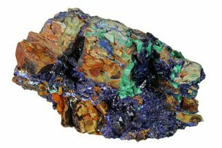 Azurite & Malachite - Fossils For Sale - #162606