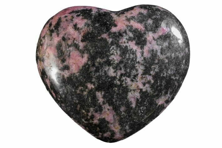 "2.95"" Polished Rhodonite Heart - Madagascar"