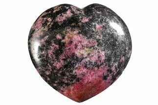 "3.6"" Polished Rhodonite Heart - Madagascar For Sale, #160463"
