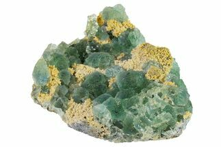 "Buy 4"" Stepped Green Fluorite Crystals on Quartz - China - #163171"