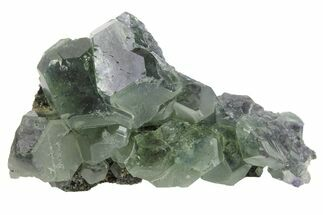 "2.1"" Green Cuboctahedral Fluorite on Sparkling Quartz - China For Sale, #163568"