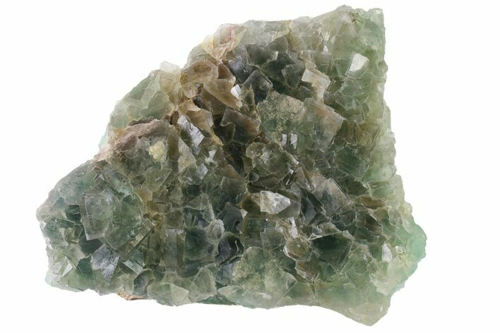 "4.9"" Green Cubic Fluorite Crystal Cluster - China"