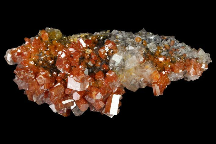 "2.15"" Vanadinite and Calcite Crystal Association - Apex Mine, Mexico"