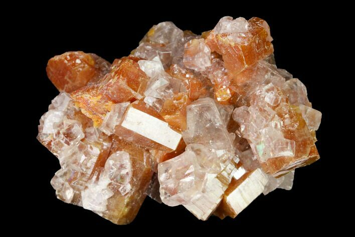 "1.1"" Vanadinite and Calcite Crystal Association - Apex Mine, Mexico"