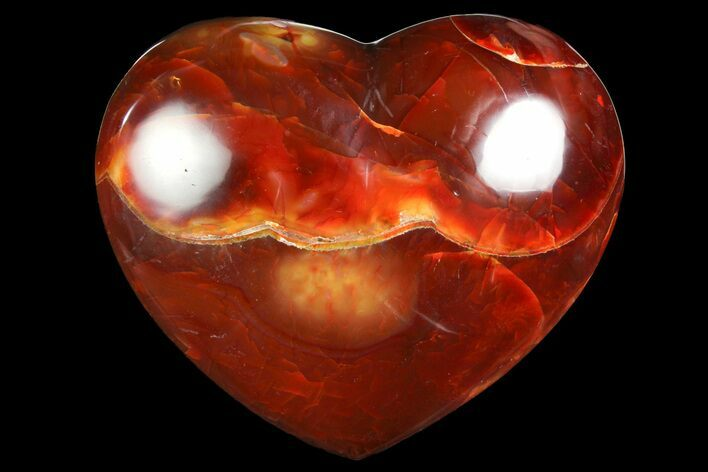 "4.55"" Colorful Carnelian Agate Heart"