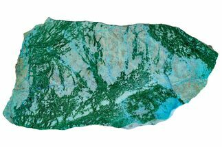 "4.4"" Polished Blue River Chrysocolla Slice - Arizona For Sale, #167573"