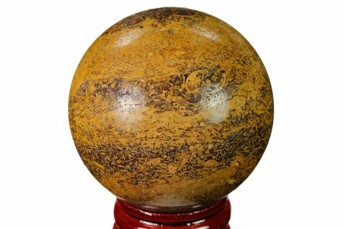 "1.95"" Polished Coquina Jasper Sphere - India"