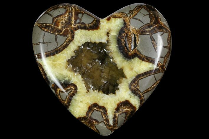 "5.1"" 3D Utah Septarian Heart - Beautiful Crystals"