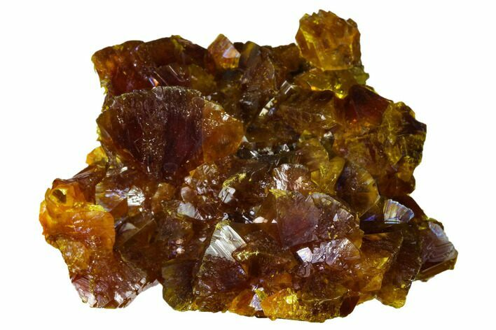 "Lustrous, 2.3"" Orpiment Crystal Cluster - Twin Creeks Mine, Nevada"