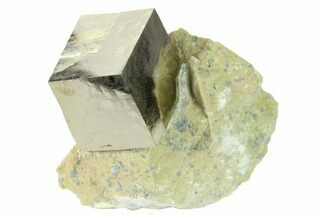 "Buy .9"" Natural Pyrite Cube In Rock - Navajun, Spain - #168496"