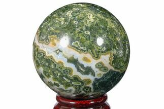 "Buy 2.5"" Unique Ocean Jasper Sphere - Madagascar - #168673"