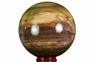 "Buy 3"" Colorful Petrified Wood Sphere - Madagascar - #169141"