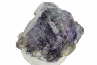 ".6"" Cubic Purple-Green Fluorite Crystal with Mica - China For Sale, #166166"