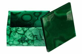 "2.1"" Polished Malachite Jewelry Box - Congo For Sale, #169865"