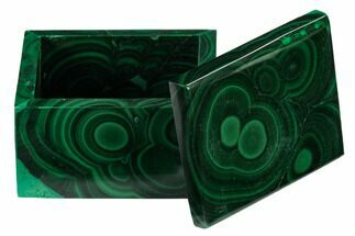 "Buy 2.15"" Polished Malachite Jewelry Box - Congo - #169867"