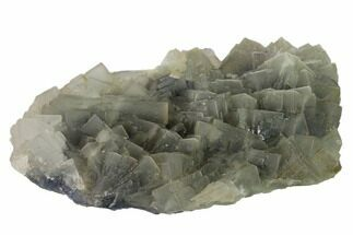 "10.6"" Blue, Cubic Fluorite Crystal Cluster - Pakistan For Sale, #112100"