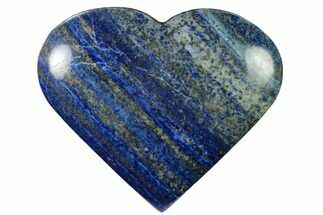 "4.2"" Polished Lapis Lazuli Heart - Pakistan For Sale, #170948"