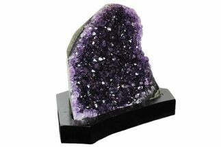 "Buy 5.6"" Dark Purple Amethyst Cluster With Wood Base - Uruguay - #171898"