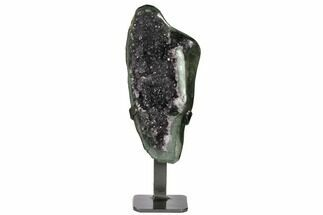 "9"" Amethyst Geode Section on Metal Stand - Uruguay For Sale, #171887"