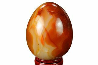 "Buy 2.4"" Colorful, Polished Carnelian Agate Egg - Madagascar - #172699"