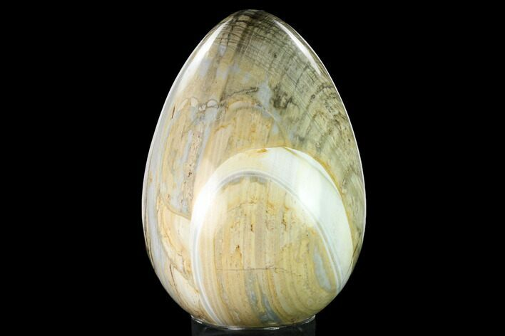 "8.9"" Polished Polychrome Jasper Egg - Madagascar"